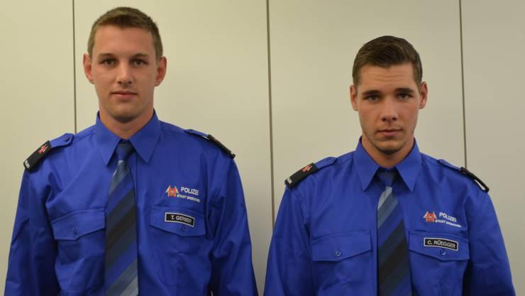 Die neuen Polizeianwärter (v.l.): Thomas Gerber, Christoph Rüegger