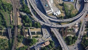 Die Nordtangente in Basel wird Anfang Juli für drei Nächte von jeweils 22 bis 5 Uhr gesperrt sein.