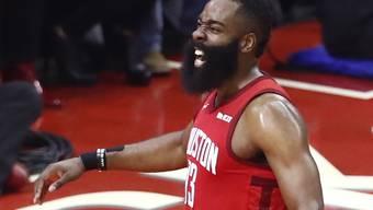 Lässt in den Playoffs seine Muskeln spielen: Houstons Starspieler James Harden