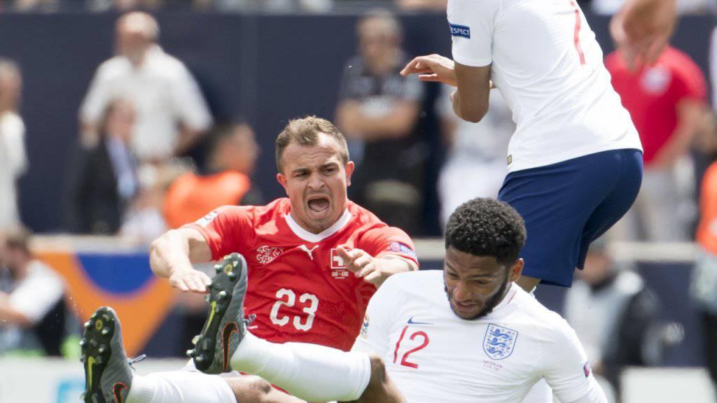 Xherdan Shaqiri hat sich vor Monatsfrist beim Nations-League-Spiel um Platz 3 gegen England einen Muskelriss in der Wade zugezogen