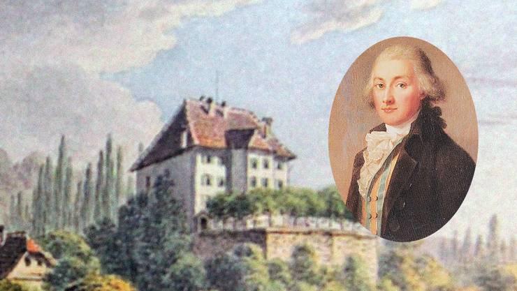 Schloss Rued zur Zeit Carl Friedrich Rudolf Mays von Rued.