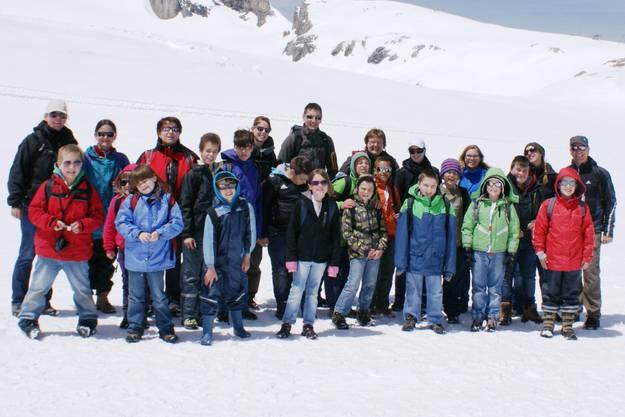 Unterwegs auf dem Glacier 3000