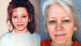 Debra Milke im Jahr 1989 (links) und im Jahr 2014.
