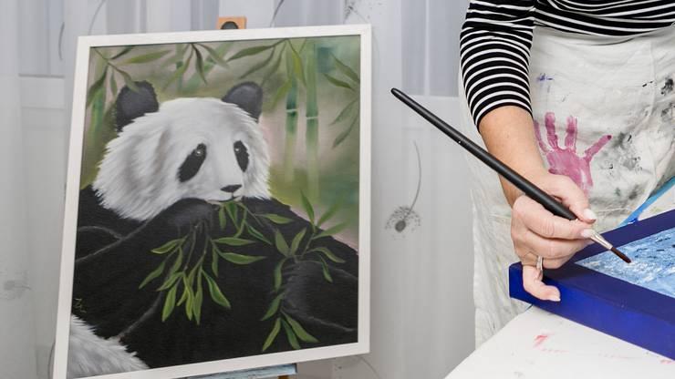 «Ich neige dazu, allzu präzise malen zu wollen», kommentiert Lehner.
