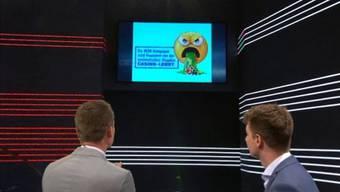 Moderator Projer nimmt JGLP-Chef Pascal Vuichard in die Mangel.