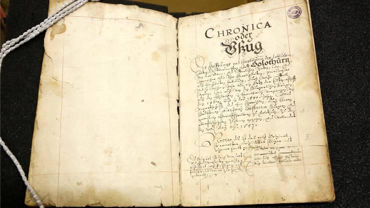 Anton Haffners Stadtchronik von 1587.
