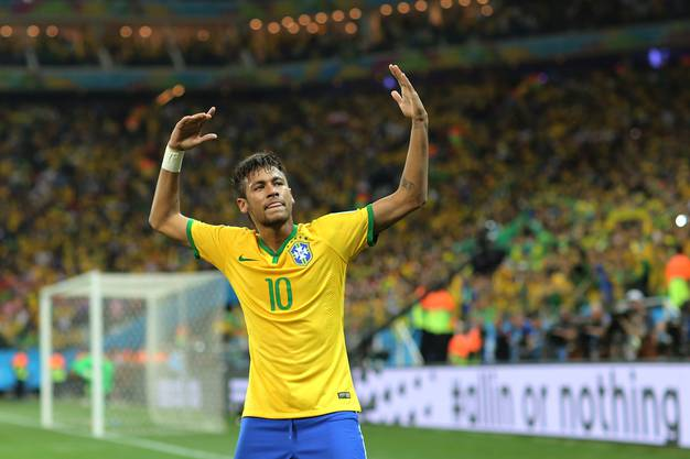 Seit seinen Schwalben an der WM eher ein Anti-Vorbild, dennoch weitherum verehrt: Neymar.