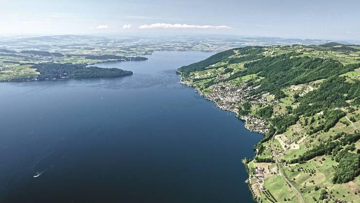 Dieses Panorama geniessen die Gäste der diesjährigen Ferienwoche in Walchwil.