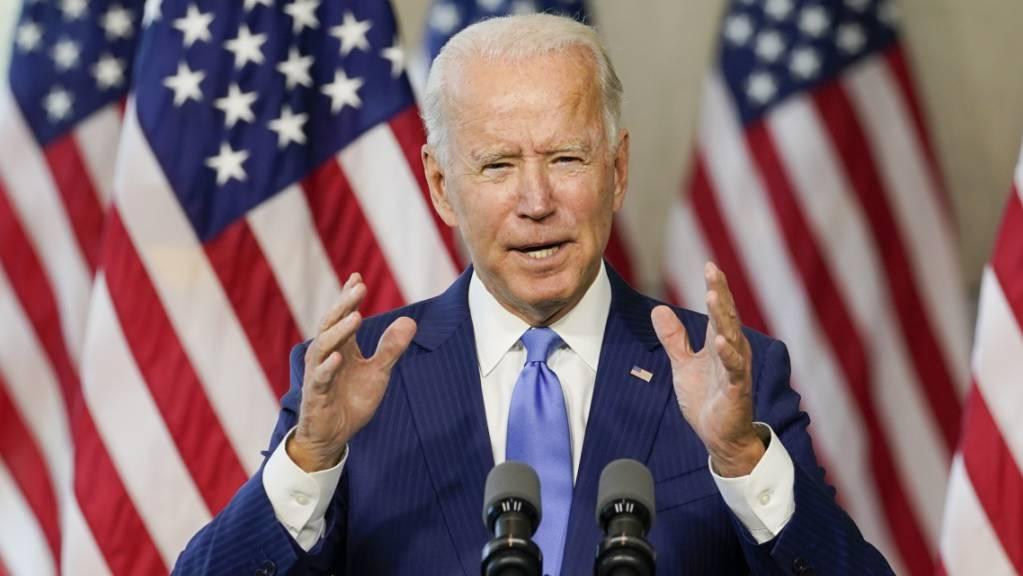 Joe Biden, demokratischer Präsidentschaftskandidat, spricht im Museum «National Constitution Center». Foto: Carolyn Kaster/AP/dpa