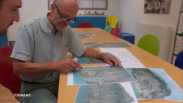 Geologen untersuchen Felssturz