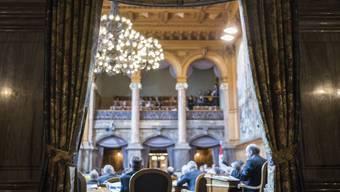 Blick in den Ständeratssaal. Wer hier und im Nationalratssaal Platz nehmen darf, wird im Oktober entschieden.