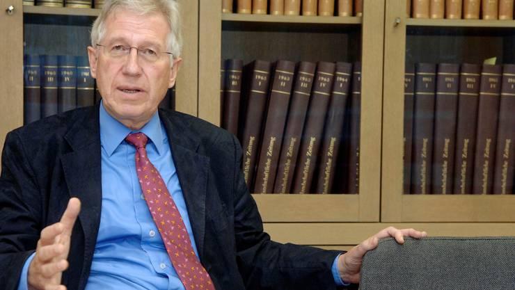Der frühere Baselbieter Ständerat (FDP) René Rhinow. (Foto: Alex Spichale)