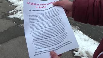 In der Aargauer Gemeinde geht ein anonymes Flugblatt um. Im Schreiben wird Gemeindeammann Urs Affolter vorgeworfen, Gelder zu verschwenden.