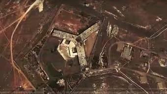 Tausende Zivilisten sollen hier hingerichtet worden sein: Das Saidnaja-Gefängnis von oben.