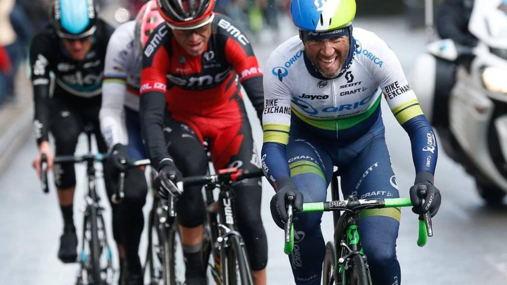 Michael Albasini vor einem Jahr auf dem Weg zu Platz 2 bei Lüttich - Bastogne - Lüttich
