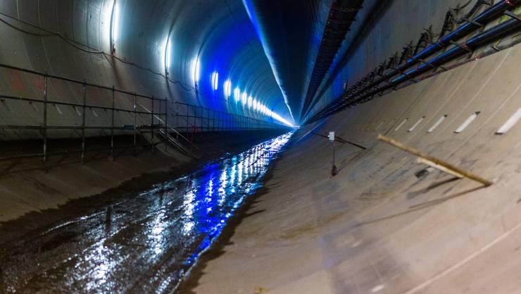 Der Bau des neuen, 2,7 Kilometer langen doppelspurigen SBB-Bözbergtunnels im Kanton Aargau geht nach Fahrplan voran.