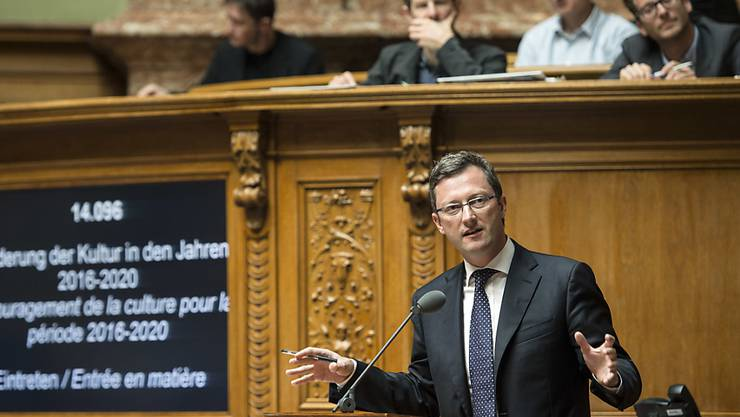 Nationalrat Peter Keller (SVP/NW) forderte zur Kulturbotschaft des Bundesrates mehrere Kürzungen. Die Anträge wurden jedoch abgelehnt