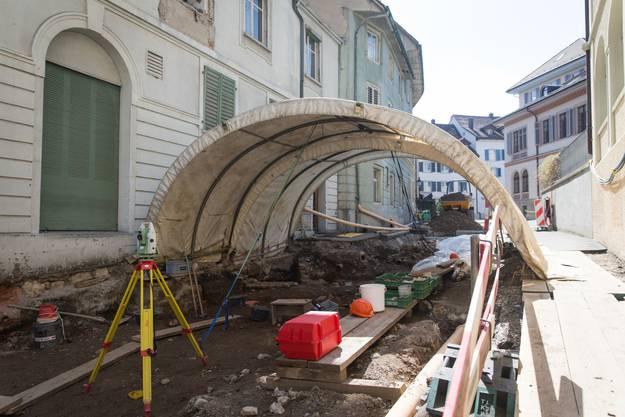 Auf der Bäderstrasse gräbt noch die Kantonsarchäologie.