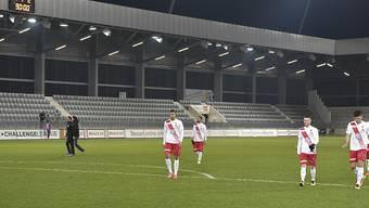 Lichter aus in der Bieler Arena: Das Rekursgericht bestätigte den Entscheid, dem FC Biel die Lizenz für die Challenge League zu entziehen