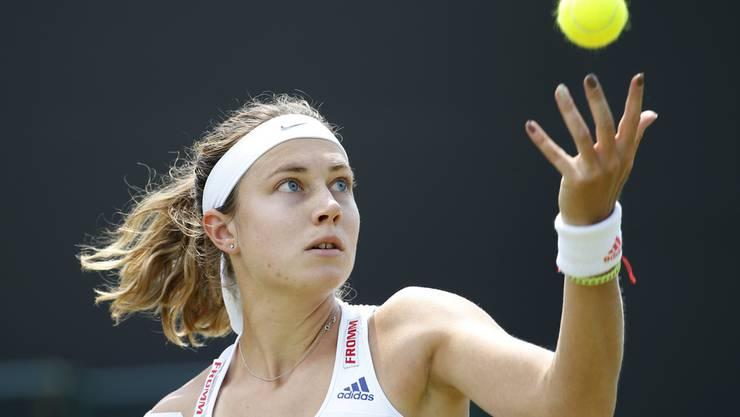Stefanie Vögele feiert wieder Siege. In Luxemburg stiess sie vor drei Wochen in den Halbfinal vor.