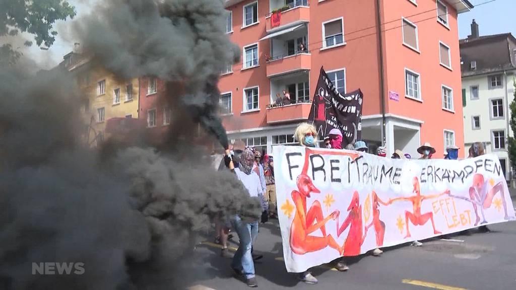 Solidarität für Hausbesetzer: Nach Effy-Prozess fordern Demonstranten mehr Freiraum