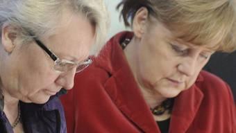 Seit langen ein gut funktionierendes Duo: Bildungsministerin Annete Schavan und Bundeskanzlerin Angela Merkel
