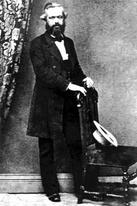 Der Revolutionär als Gentleman: Karl Marx in London. Ullstein Bild