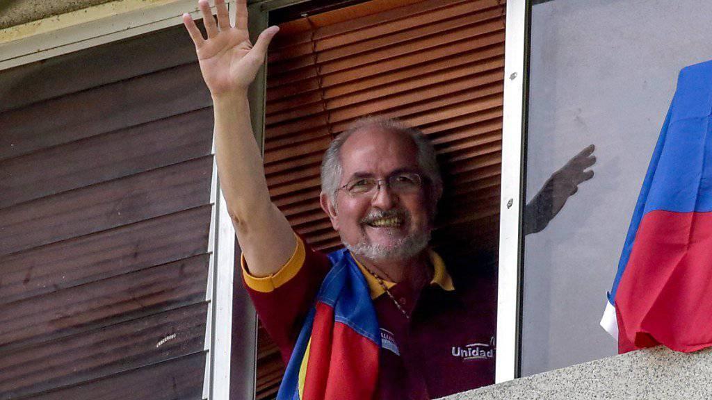 Der venezolanische Oppositionsführer Antonio Ledezma ist nach Kolumbien geflohen. (Archiv)