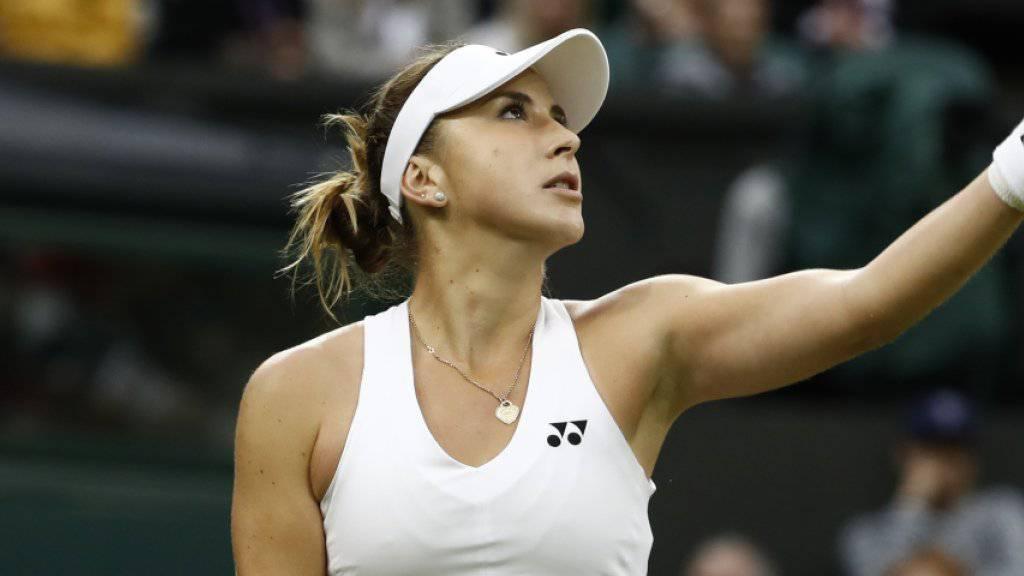 Sorgenvoller Blick: Belinda Bencic musste ihre Zweitrunden-Partie in Wimbledon aufgeben