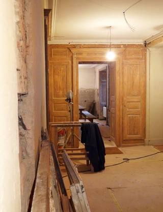 Schon früher wurde viel Holz für den Innenausbau verwendet