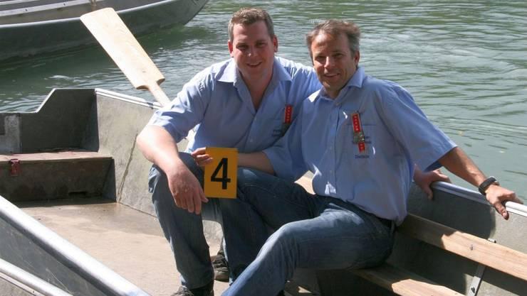 Fuhren knapp neben die Medaillen: Die Dietiker Roland Keller (links) und Marcel Kohler. Michael Schenk
