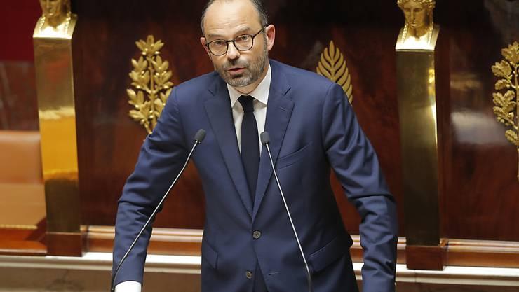 Der französische Premierminister Edouard Philippe in der Nationalversammlung in Paris.
