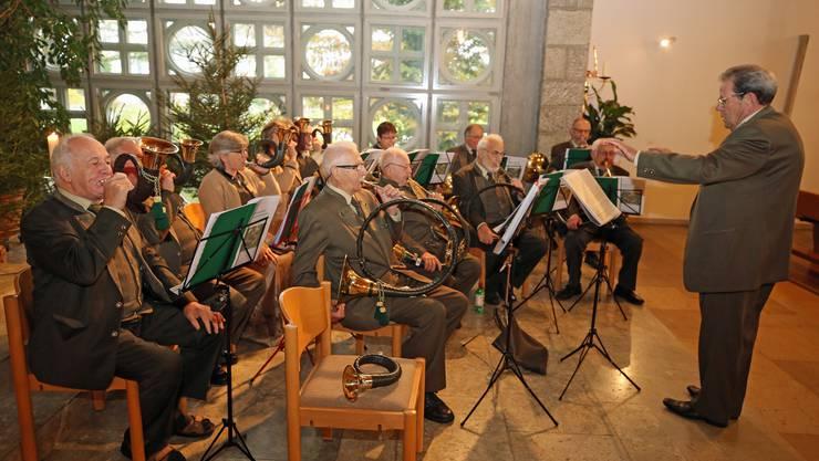 Die Jagdhornbläsergruppe Falkenstein/Oberaargau umrahmte die Hubertusmesse musikalisch.