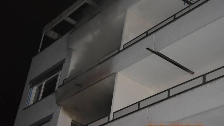 Im dritten Stock brannte es in einer Wohnung.