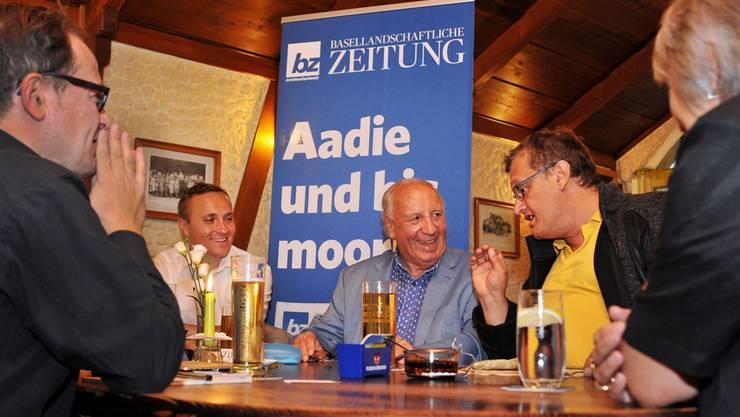Hans-Martin Jermann, Yves Krebs, Paul Schaub, Klaus Kirchmayr und Marie-Therese Müller (v.l.).