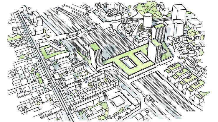 450 Millionen Franken investieren SBB und Post in die Überbauung am Basler Bahnhof SBB.
