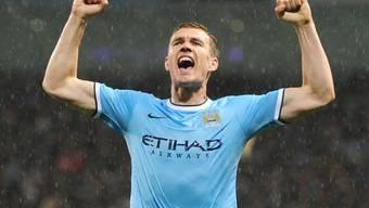 Edin Dzeko Doppeltorschütze für Manchester City