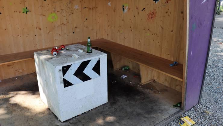 Das «Ländli»-Areal in Baden ist ein Hotspot der Littering-Problematik.