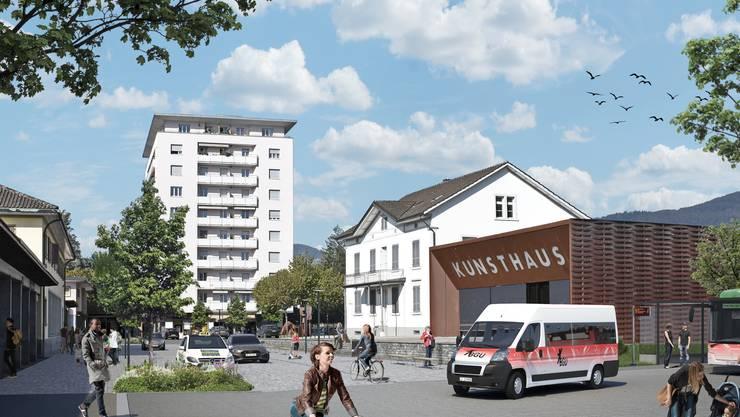 Der Bahnhofplatz wird umgestaltet.