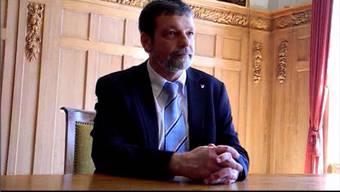 Roland Heim (CVP) nach seiner Wahl in die Solothurner Regierung