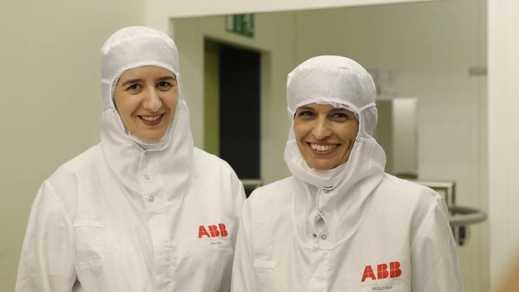 Doris Leuthard (r.) und Jasmin Staiblin (damals ABB Schweiz-Chefin).