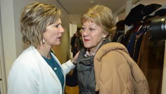 Welche Nationalrätin hatte am Sonntag Trost nötig? Bei der Regierungswahl Susanne Leutenegger Oberholzer (SP, r.), beim Landrat Maya Graf (Grüne).