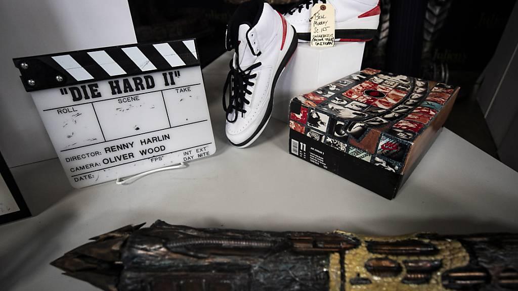 Ein Paar Nike-Schuhe aus dem Film Space Jam aus dem jahr 1996 (Archivbild).