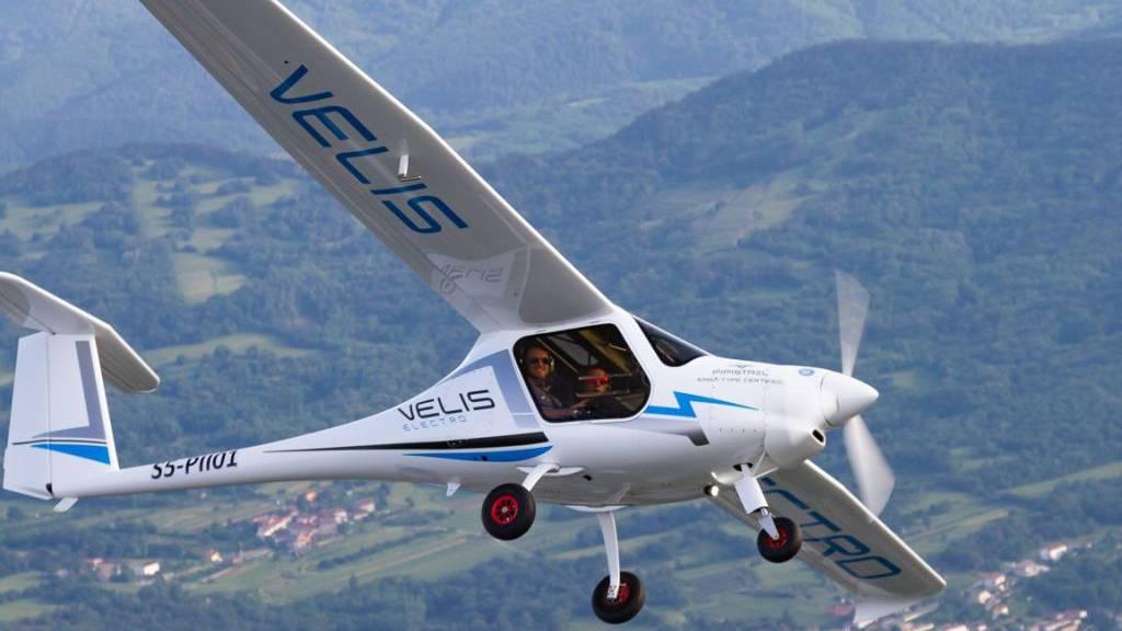 Erstes E-Flugzeug mit Zulassung in der Schweiz: Das Velis Electro des slowenischen Herstellers Pipistrel.