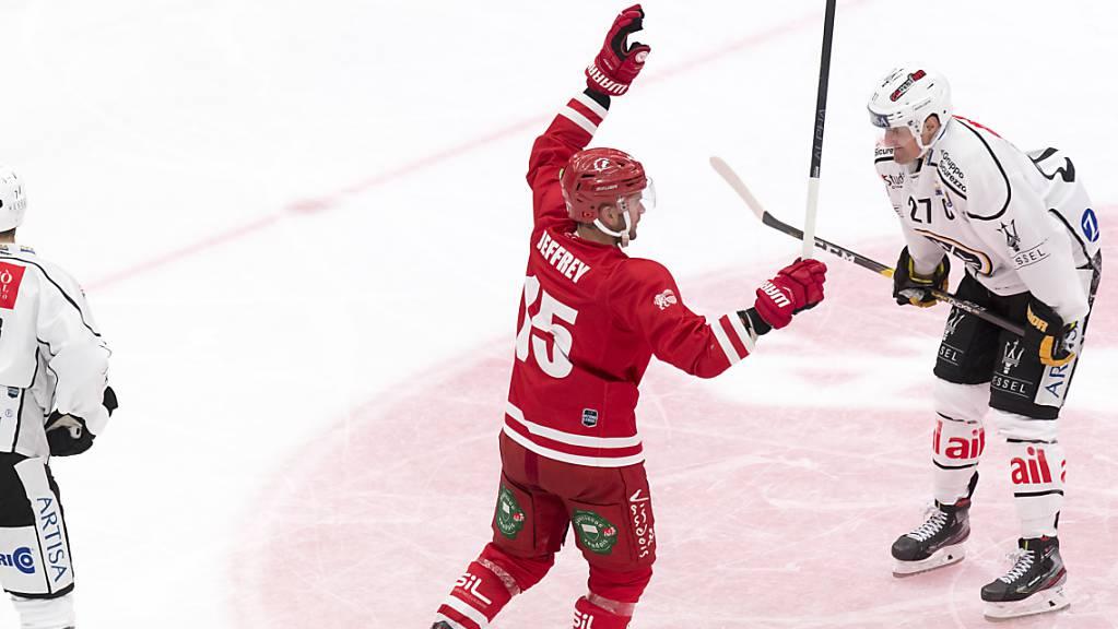 Dustin Jeffrey erzielte für den Lausanne Hockey Club sowohl am Samstag in Langnau wie am Sonntag gegen Lugano das «Game-Winning-Goal»