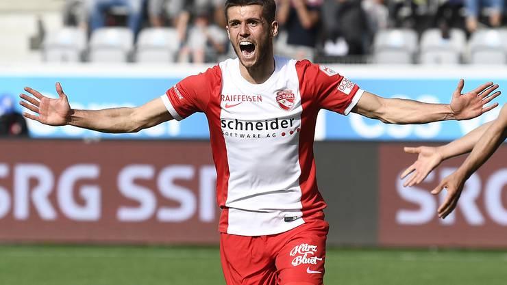 Ex-FC-Thun-Spieler Nicolas Hunziker will beim FC Baden seine Karriere neu lancieren.