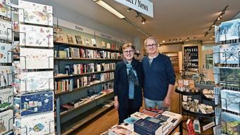 Anita und Christian Meyer nach dem Umzug im neuen Laden am Munzingerplatz.