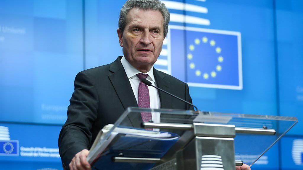 """Der EU-Beitritt von sechs Ländern des westlichen Balkans wird nach den Worten von EU- Haushaltskommissar Oettinger derzeit als """"Tabu"""" behandelt.(Archivbild)"""