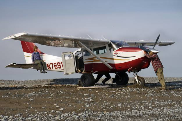 Startvorbereitungen im Katmai NP, Alaska