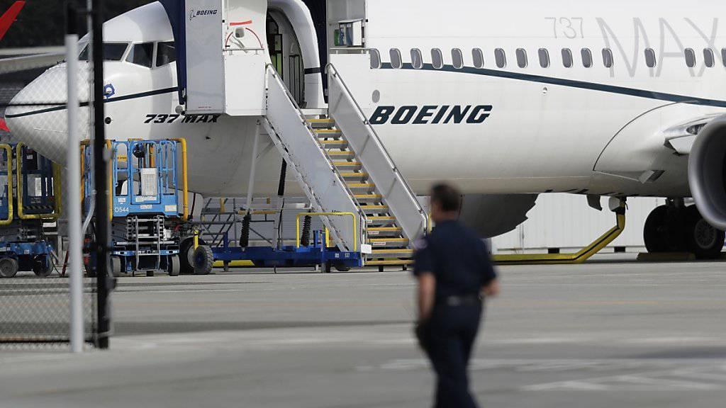 Auf ihr soll eines Tages ein Ryanair-Logo prangen: Der Problemflieger 737 MAX von Boeing. (Archivbild)